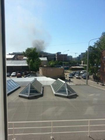 Пожар в бизнес-центре «Невская ратуша» 8.06.15: Фото