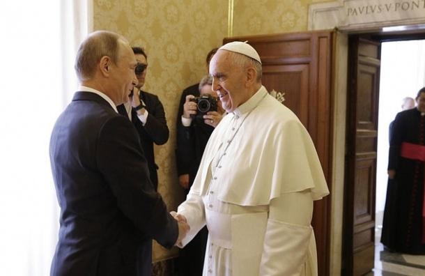 Песков: Путин опоздал на встречу с Папой Римским из-за задержки в Милане