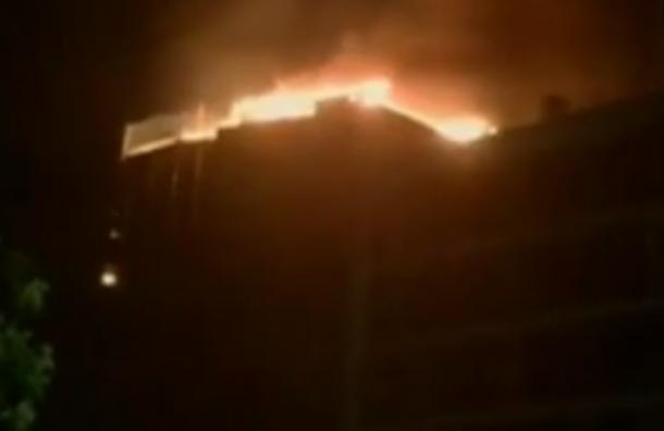На севере Москвы ликвидировали пожар в «Городе яхт»