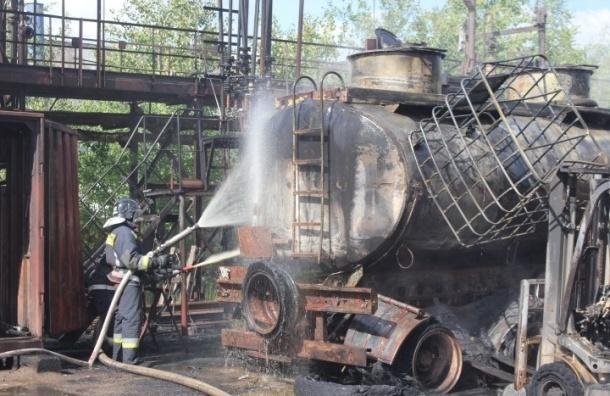 В пожаре на «Пигменте» пострадали два человека