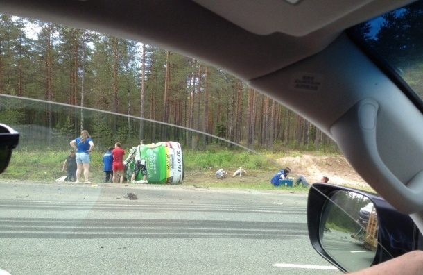 В массовом ДТП на трассе «Скандинавия» погиб человек