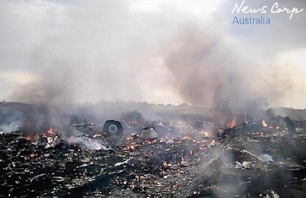 СМИ опубликовали новое видео с места крушения «Боинга» на Украине