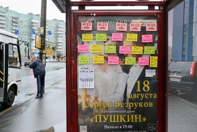 Реклама борделей на Проспекте Просвещения, фото: МР, Сергей Ермохин: Фото