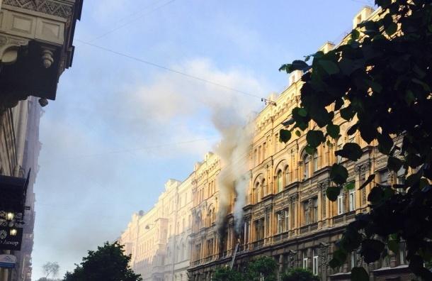 Пожар на Пушкинской навел полицейский на склад с оружием