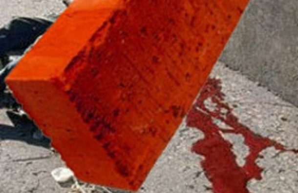 В Петербурге на голову местного жителя упал кирпич и кусок лепнины