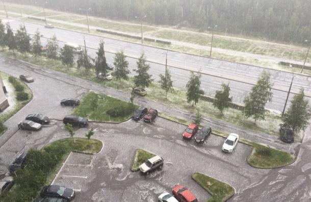 В Петербурге прошел сильный град, который местные жители назвали «трешом»