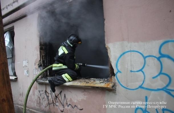 В Петербурге пожар на Благодатной улице тушили 45 спасателей
