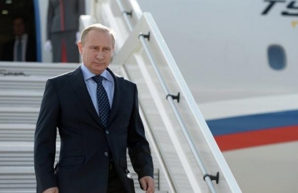 Владимир Путин прибыл на саммиты ШОС и БРИКС в Уфу