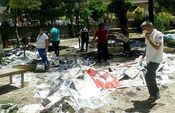 В Сети появилось видео взрыва в турецком городе Суруч
