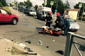 В Сестрорецке произошла авария с участием мотоциклиста