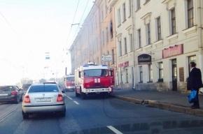 Из-за пожара в Василеостровском районе образовалась пробка