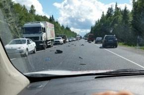 Очевидцы: на Киевском шоссе произошла массовая авария