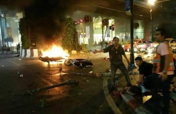 В сети появилось видео взрыва в Бангкоке