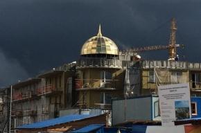 В жилом районе «Золотые купола» появился первый купол