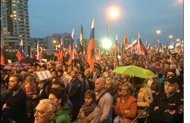 Митинг оппозиции в Марьино посетили от 4 до 7 тыс человек