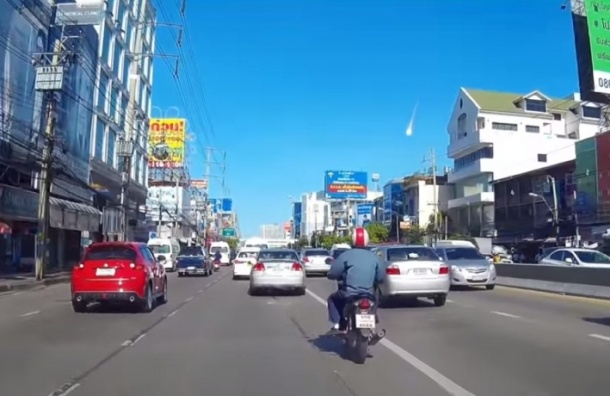 Видео падения метеорита в Таиланде появилось в Интернете