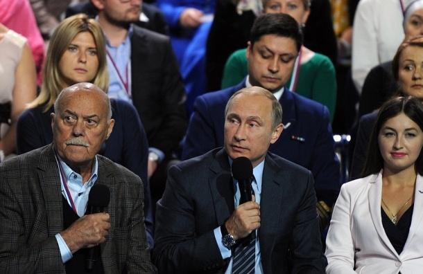 Около 15% россиян не довольны работой Путина