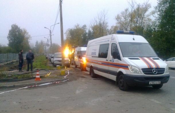 Прорыв газопровода произошел в Колпино