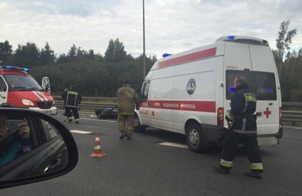 Очевидцы: Мотоциклист разбился насмерть на внешнем кольце КАД