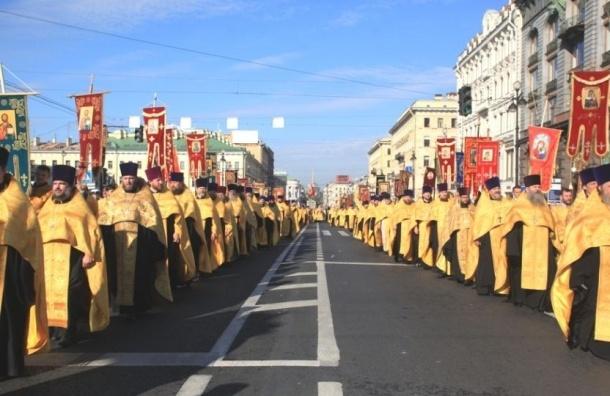 Крестный ход в Петербрге сегодня закроет движение в центре города