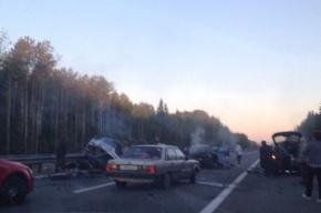 Трое пострадали и двое погибли в аварии на Приозерском шоссе