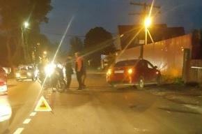 Мотоциклист попал в ДТП на Токсовском шоссе