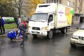 Женщину сбил грузовик на Народной улице