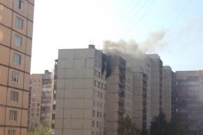 Двух человек эвакуировали из-за пожара на Ленинском проспекте