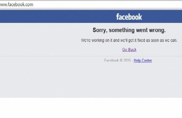 Соцсеть Facebook недоступна для пользователей