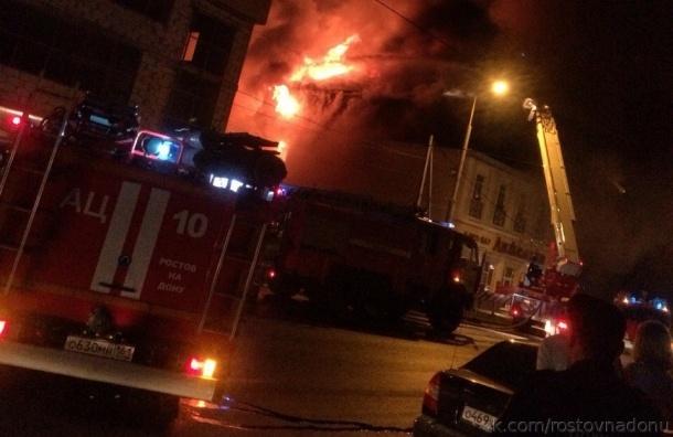 Крупный пожар в Ростове ликвидировали этой ночью