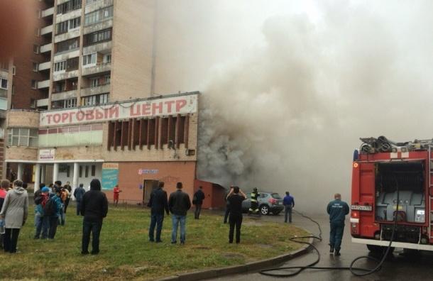 Очевидцы: горит бар на Брестском бульваре