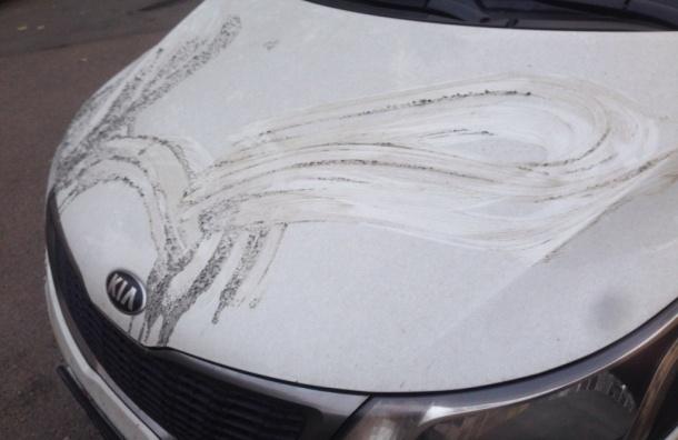 Неизвестный облил кислотой машину петербурженки на Большой Пороховской улице
