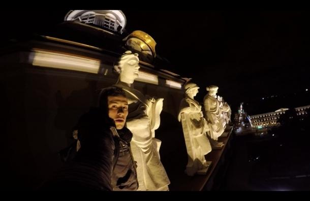 Петербургские руферы забрались на Адмиралтейство