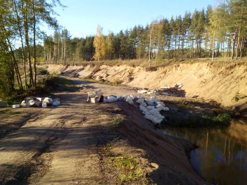Новоорловский парк загрязняют мусором