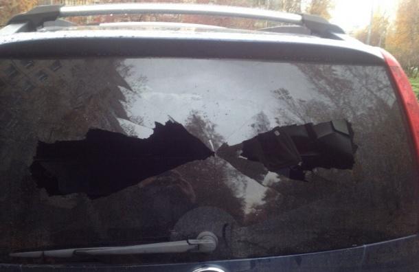 Неизвестный расстрелял машины из пневматики на проспекте Косыгина