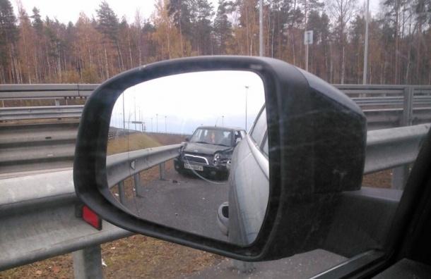 Автомобилистка потеряла сознание и улетела в отбойник