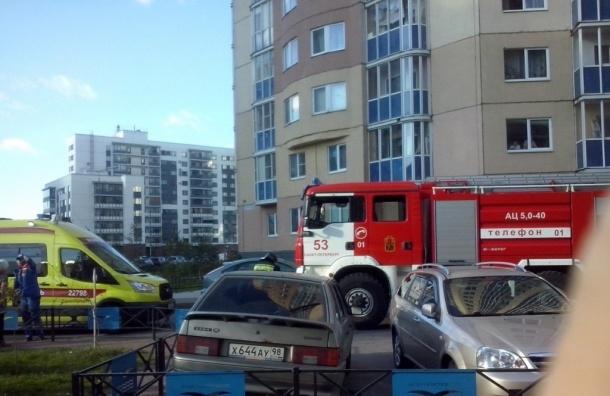 Ребенок пострадал при пожаре на улице Оптиков