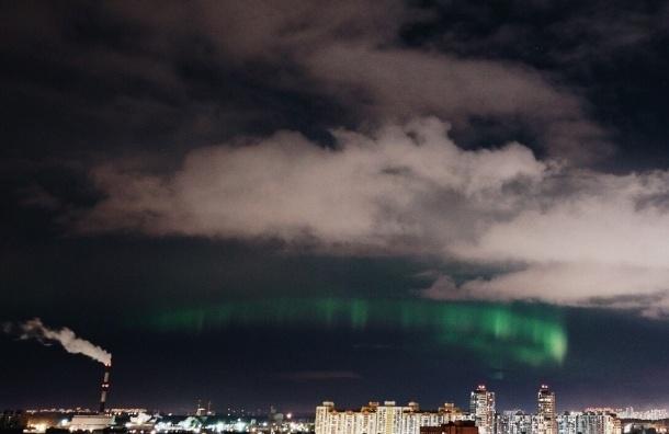 Северное сияние видели в Петербурге третью ночь подряд