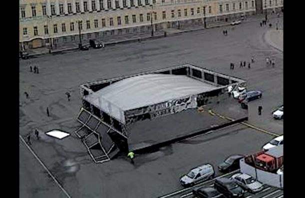 Обрушение «Зеркального куба» на Дворцовой проверит прокуратура