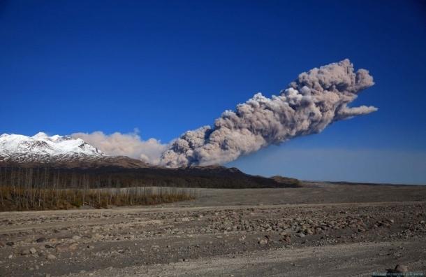 Облако пепла высотой в 6 км выбросил вулкан на Камчатке