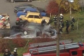 Автомобиль сгорел в Колпино