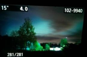 Северное сияние увидели в Петербурге в ночь на 8 октября