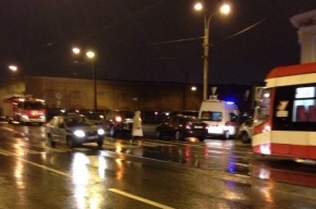 Человека сбили на пешеходном пешеходе в центре Петербурга