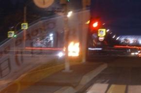 Две иномарки сгорели ночью в Петербурге