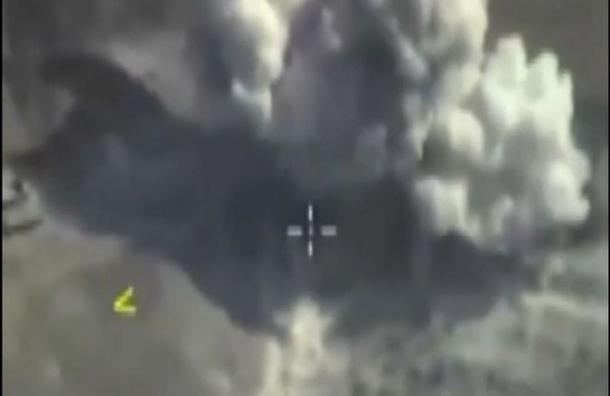 Российские ВВС сбросили на бункер и лагерь