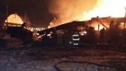 Фоторепортаж: «Пожар на деревообрабатывающем заводе в Екатеринбурге»