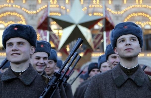 Марш на Красной площади, посвященный легендарному параду 1941 года, начался в Москве
