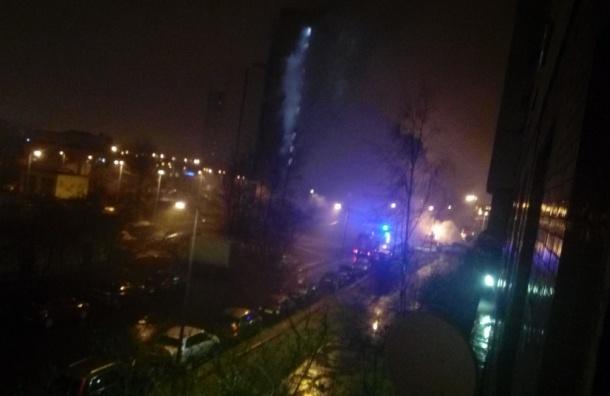 «Газель» сгорела на Бухарестской улице