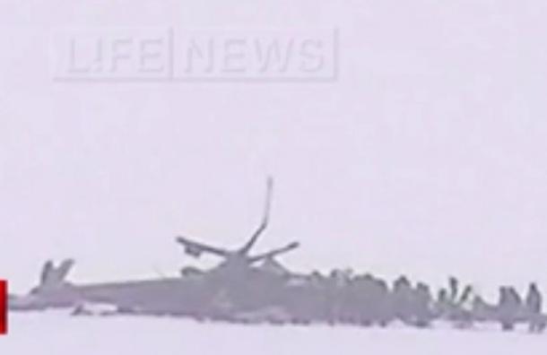 СМИ опубликовали первые кадры с места крушения Ми-8