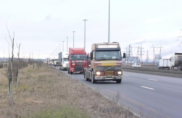 Дальнобойщики проедут по Московскому шоссе «Улиткой»